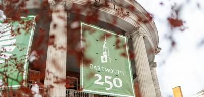 Students, faculty, and staff celebrated the campus kickoff of Dartmouth's 250th anniversary
