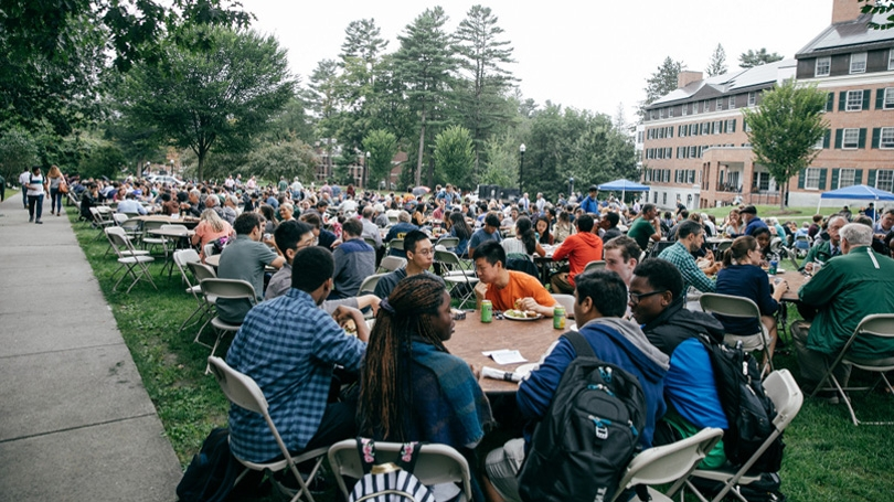 The Dartmouth community gathers for lunch at last year's celebration.