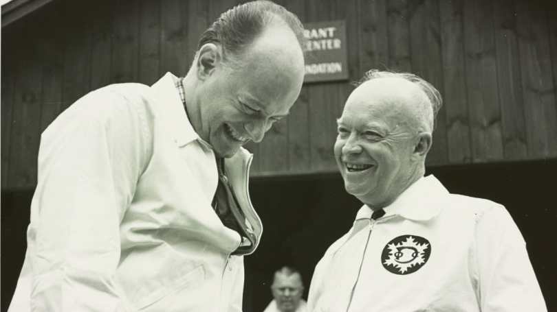 dickey and eisenhower at the grant